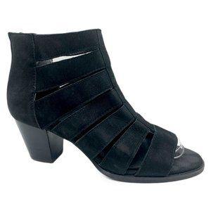Vionic Aloft Harlow Nubuck Caged Peep Toe Heels